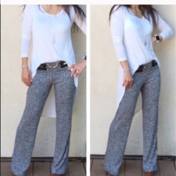 Best selling tweed fold waist pants Best selling best fitting great fitting tweed like fold waist pants ( sold out of these 7X) PLEASE comment on the size you want (when you're ready to purchase) and allow me to make you a personalized listing instead of using the bundle option BUNDLE And SAVE 10% Pants