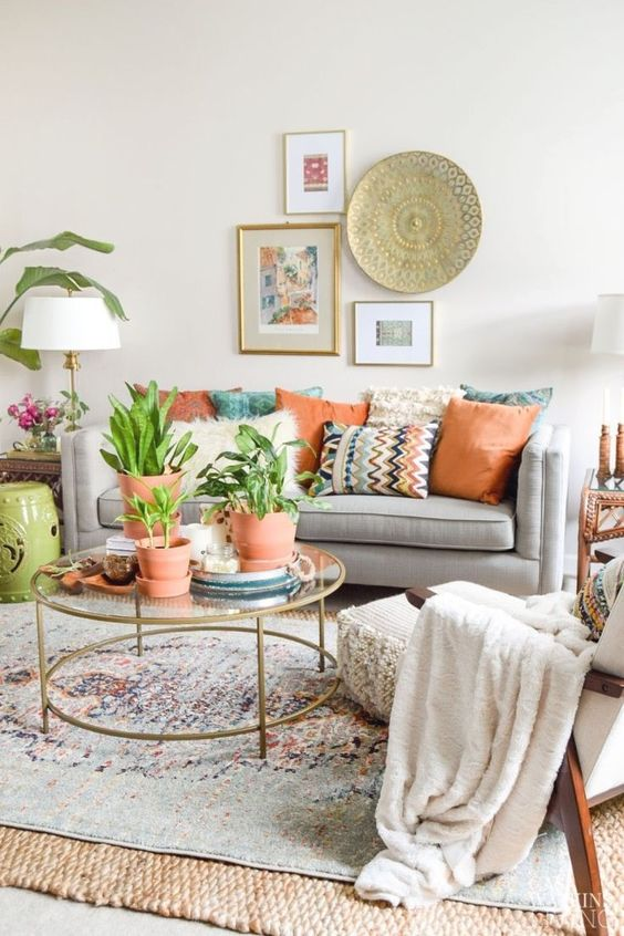 Global decor made easy! My 3 tips for styling boho pillows. A how to for coordinating pillows so your sofas don't go naked!