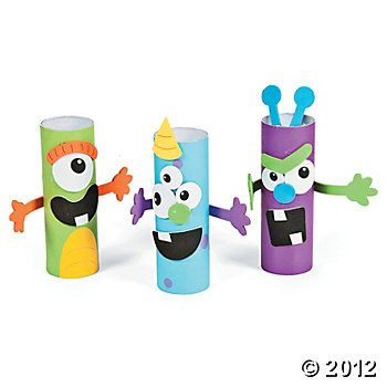 Monster treat holder craft kit novelty crafts crafts for Kids toilet paper holder