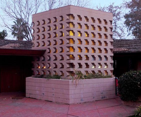 Dr. George Albin House.1961. Bakersfield, California. Usonian Style. Frank Lloyd Wright