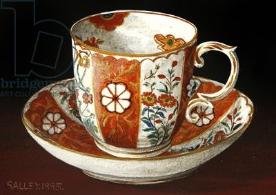 "Galley - ""Tea cup and saucer with red pattern"" (1995)"