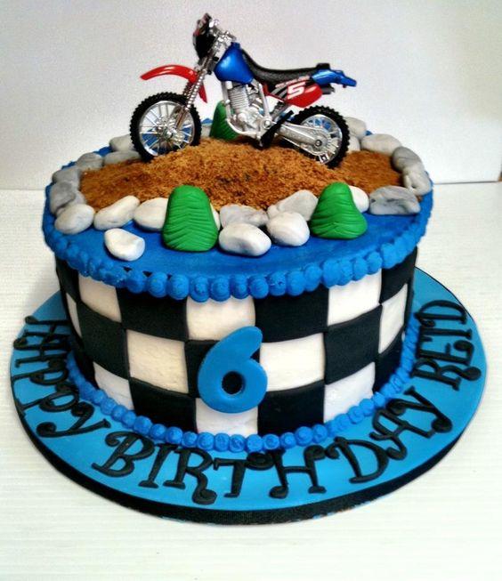 Dirt bike birthday cake!