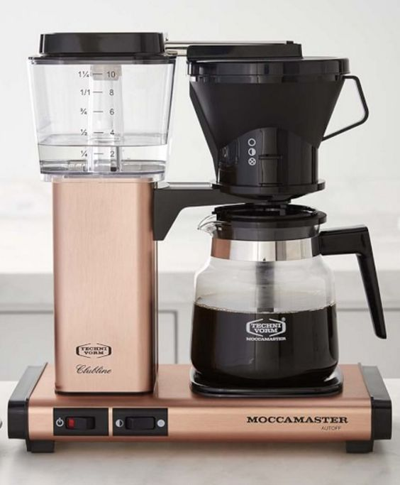 Technivorm Glass Coffee Maker, Copper