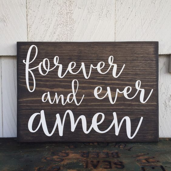 Forever And Ever Amen Wood Sign Randy Travis by 4Lovecustomgifts