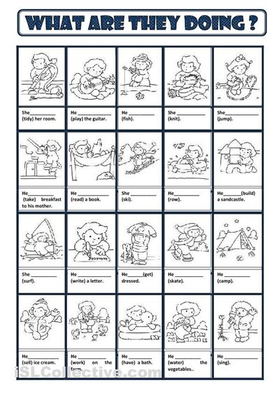 Present Continuous worksheet - Free ESL printable worksheets made ...