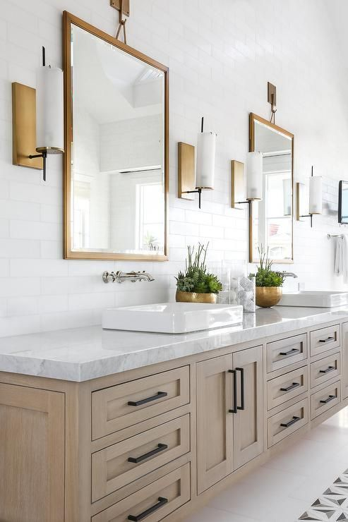 Gold And Rubbed Bronze Finish Together Bathroom Trends Becki