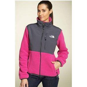 North Face Rose Women Denali Hoodie Fleece Jacket   North Face