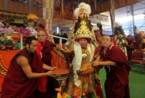 Tibetan oracle in trance