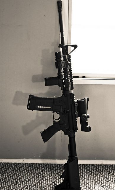 "Bushmaster M-4...hear me out. I respect out countries history with guns, our constitutional rights and recreational shooting... Weapons like this are absurd for any one to possess. We are not living in Pakistan,Somalia,Libya, any war torn country that such weapon might be feasible to possess. This weapon was somehow possessed by a mentally unstable 20yr old boy. Why is that ok? Adam Lanza used this ""bushmaster m-4"" to slaughter tiny lives. Little angels. The terror they must have felt hurts."