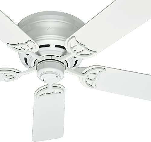 Amazing Offer On Hunter Fan 52 Inch Low Profile Traditional Ceiling Fan White 5 Blade Renewed Online In 2020 With Images Ceiling Fan Traditional Ceiling Fans Hunter Fan