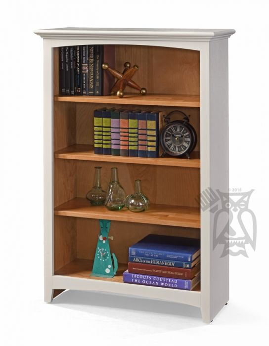 Alder Wood Mckenzie Bookcase In Aged White Natural Finish 48 Muebles Muebles Con Palets Muebles Reciclados