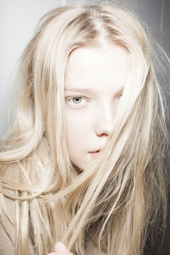 Blonde + milky skin #beauty #hair #model