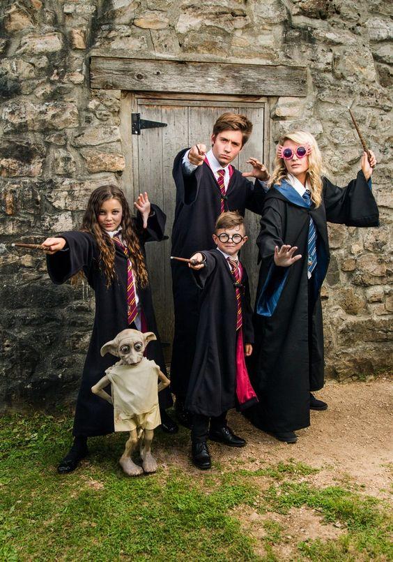 Gruppenkostume Karneval Magische Welt Harry Potter Freunde Hauself Gruppenkostume Karneval Kostumideen Fasching Kostume Karneval