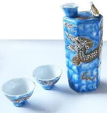 Image result for japanese bird whistling blue and white sake decanter
