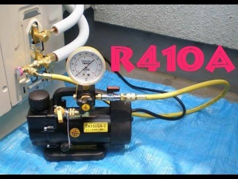 R410a Vacío Prueba Nitrogeno Y Carga De Refrigerante Aire Acondiciona Refrigeration And Air Conditioning Air Conditioner Maintenance Hvac Air Conditioning