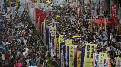 Biểu tình cực lớn ở Hồng Kông