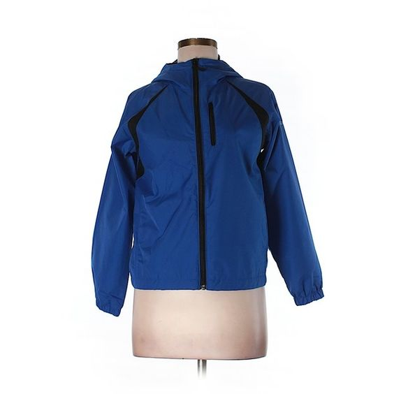 Pre-owned Columbia Windbreaker Size 8: Dark Blue Women's Jackets &... ($22) ❤ liked on Polyvore featuring dark blue and columbia