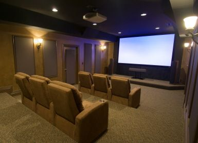 Home theater room.