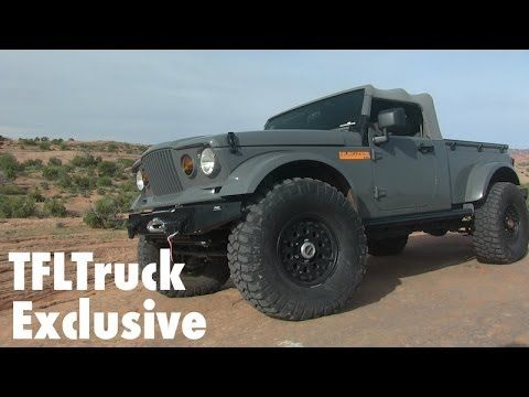 Wahoo! We drive the Legendary Jeep Nukiser Pickup off-road in Moab - YouTube