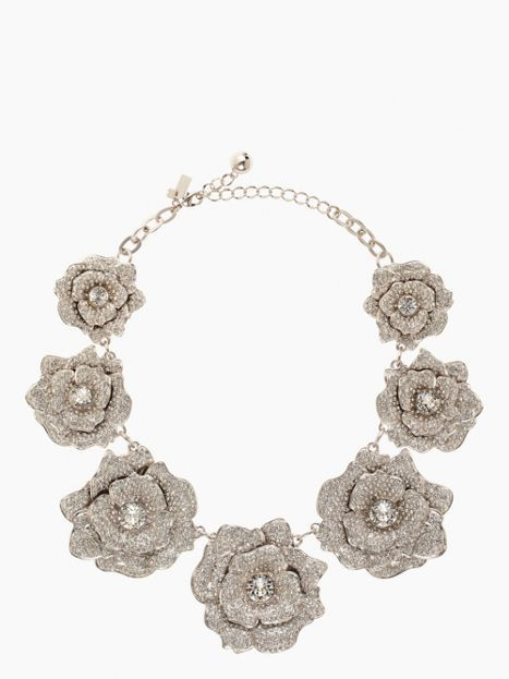 rose garden pave collar necklace - kate spade new york