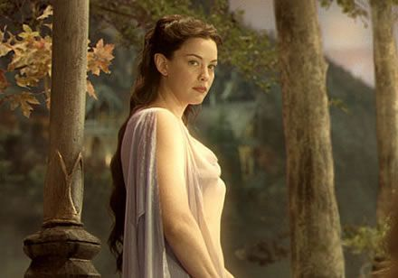 I really loved this costume of Arwen's...although the scene where she wore it (a flashback of Aragorn's) was not my favorite.