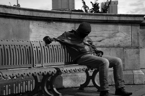 Whilst out taking images in Birmingham I noticed this guy asleep on a bench in centenery square. The light was not perfect to light up the front of his face but I liked his position on the bench.