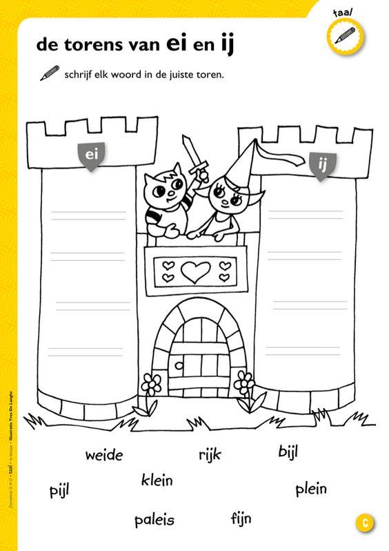De torens van ei en ij @keireeen   Spelling   Pinterest