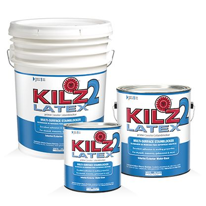 Kilz 2 latex is a fast drying water base multi purpose for Exterior wood water based primer