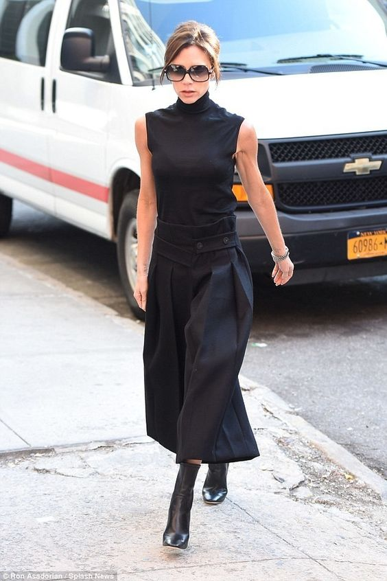Victoria Beckham shows off her new stunning figure in New York.