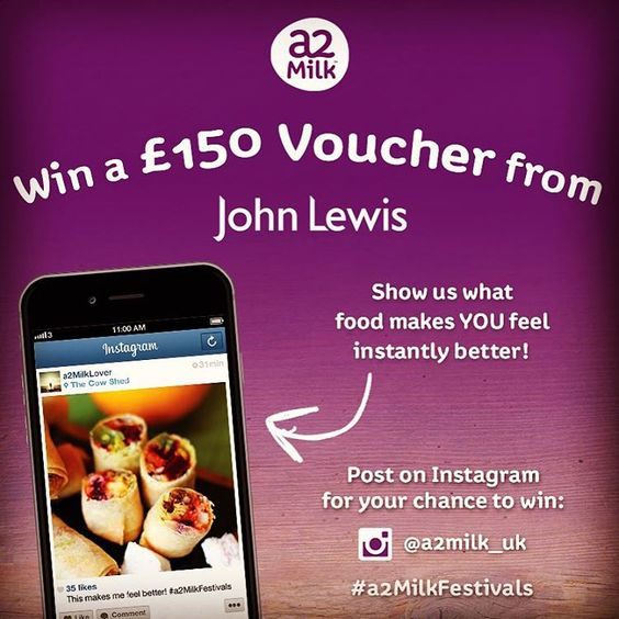 WIN £150 JOHN LEWIS VOUCHER a2 Milk™ has helped make thousands of - make voucher