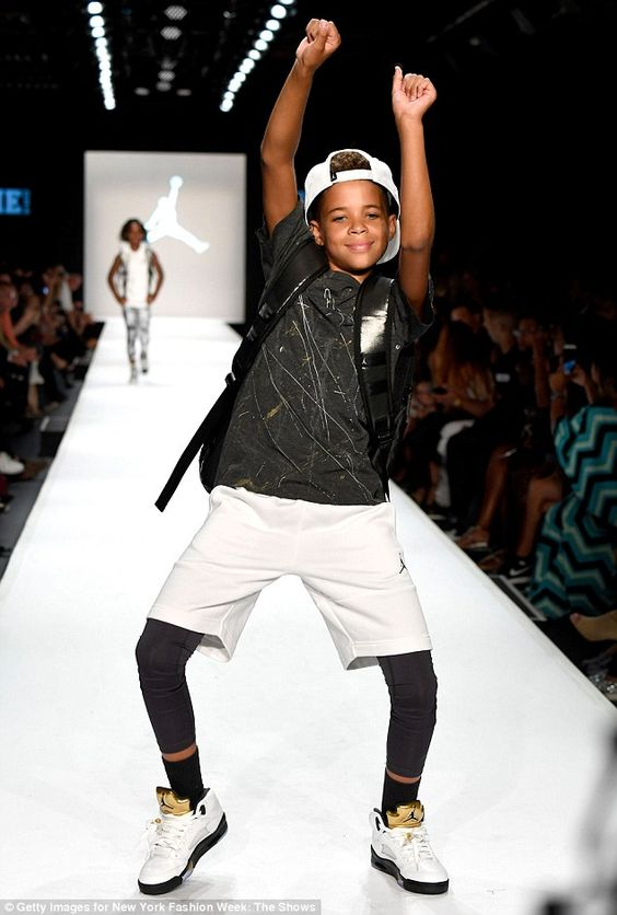 Shaking it: It was a more relaxed vibe than most other runway shows