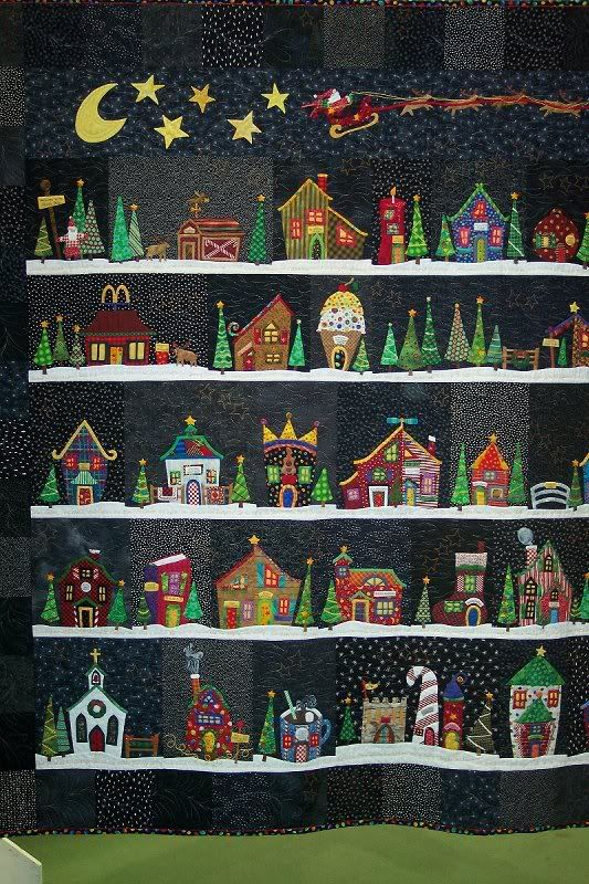 Another version of Welcome to the North Pole...this one has enough buildings for an advent calendar.: