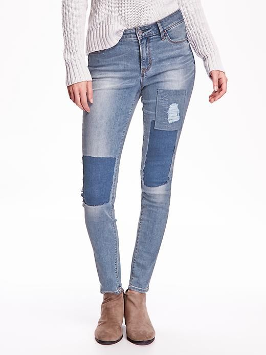 Women's Mid-Rise Rockstar Patchwork Jeans | Clothes | Pinterest ...
