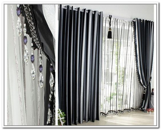 White Curtains black and white curtains : Grey Black White Curtains | Home decor ideas | Pinterest | Grey ...