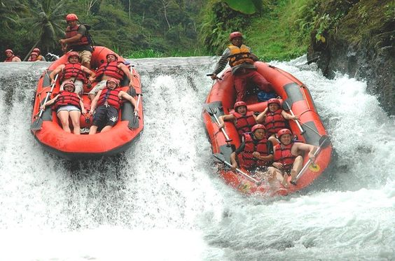 Bali's exhilarating white water rapids against a picturesque backdrop of dense tropical rainforests, towering gorges and magnificent rice paddy terraces will get the heart pumping.
