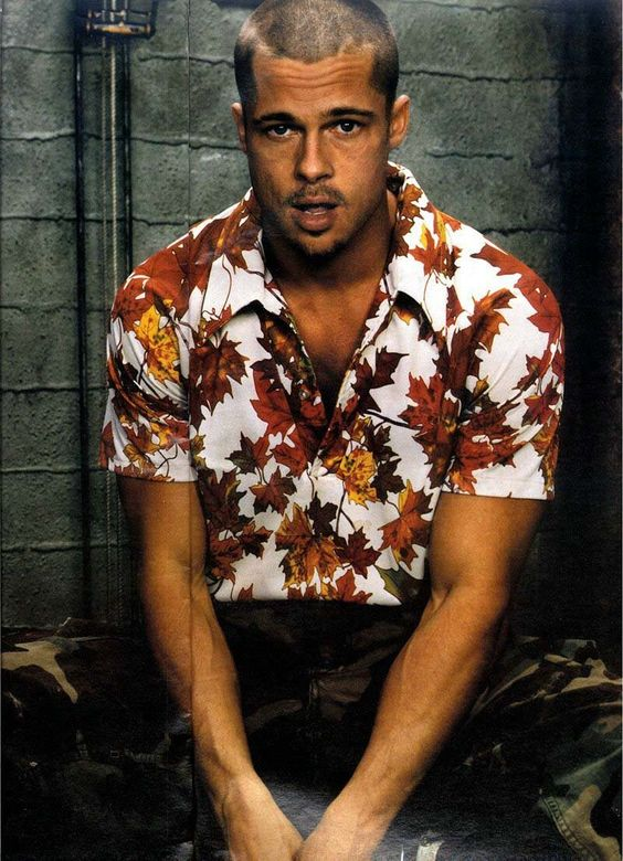 brad pitt fight club buzz cut - photo #6