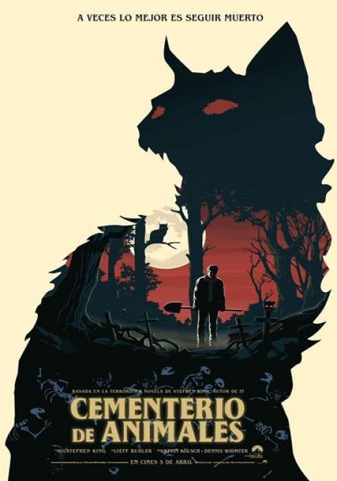 Cartel Oficial En Español De Cementerio De Animales Pet Sematary Horror Movie Posters Movie Posters Design