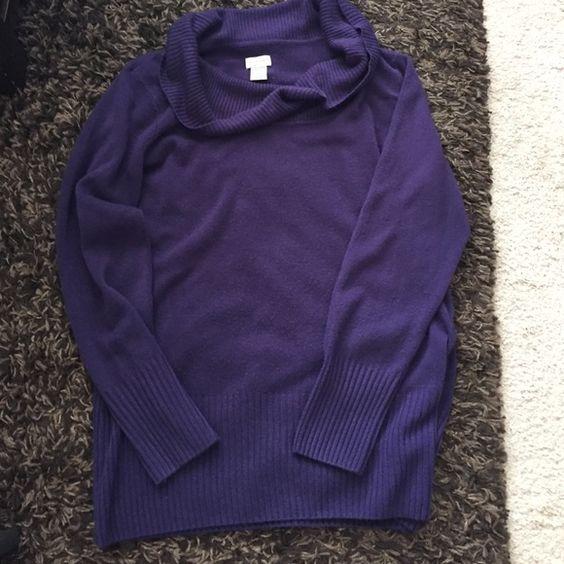 Pretty purple sweater 100% acrylic. Very pretty purple. Almost an eggplant color Jaclyn Smith Sweaters Cowl & Turtlenecks