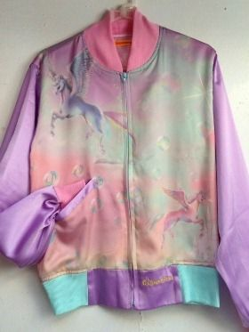 Cool Looking Pink Purple Blue Holographic Unicorn Jacket
