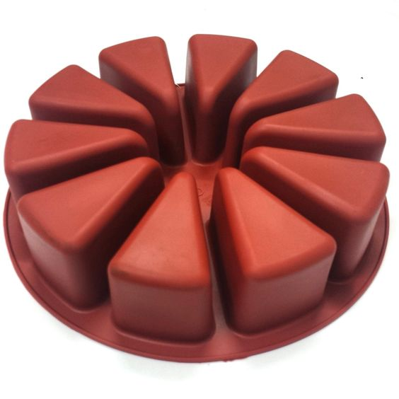 Forma de silicone Fatias de Bolo - Prime Chef