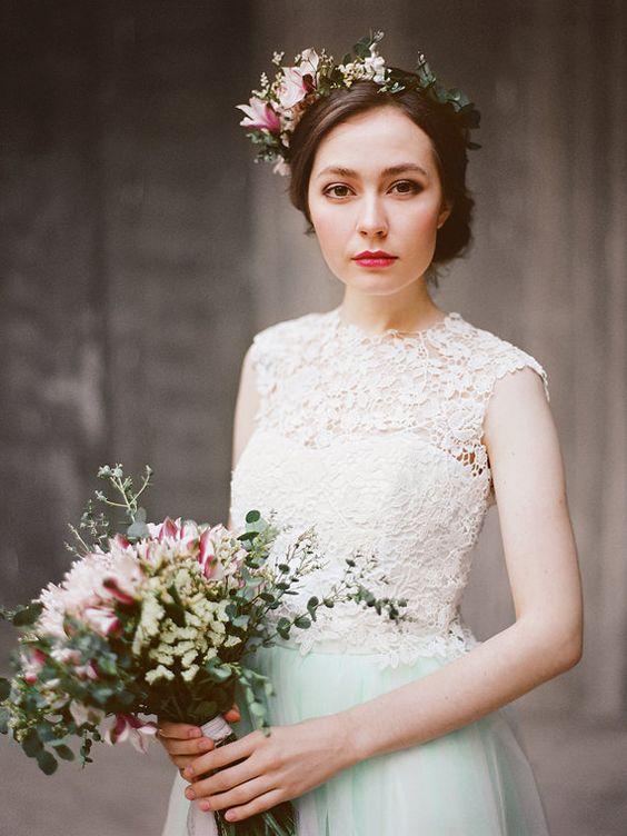 Vesta // Three piece wedding dress  Bridal von Milamirabridal