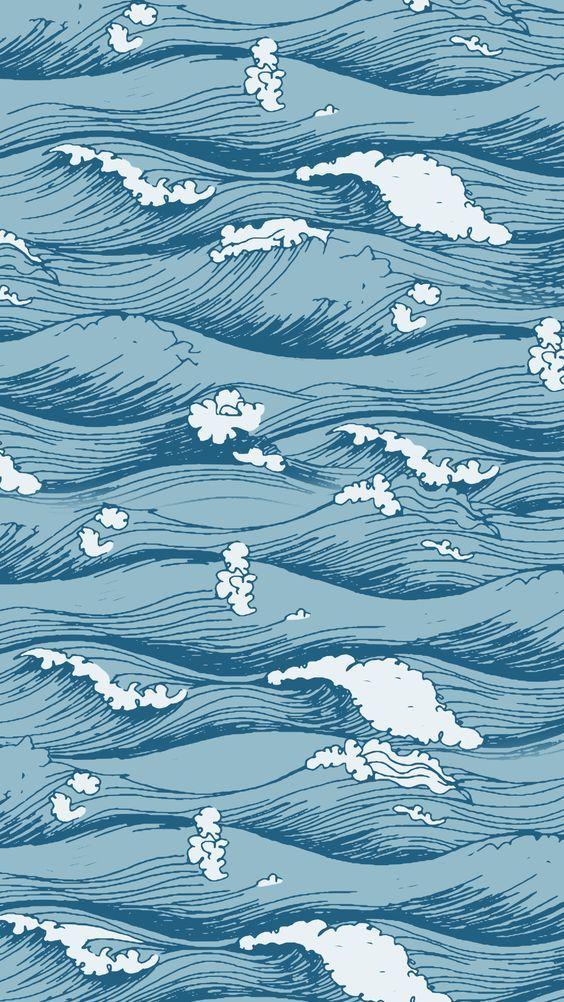 Sea Ocean Waves Pastel Colors Wallpaper Screensaver Iphone