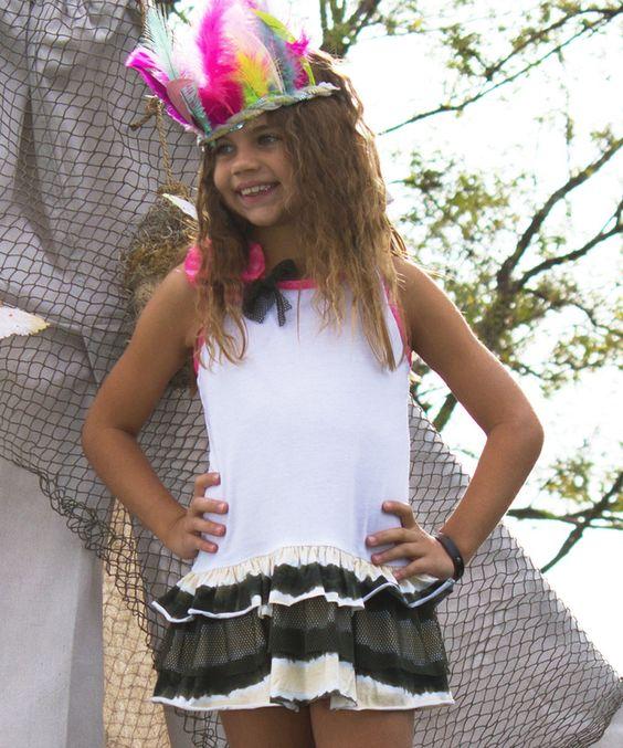 Look what I found on #zulily! White & Camo Haley Dress - Toddler & Girls by Nesting Baby #zulilyfinds