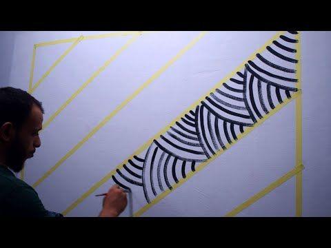 أسهل طريقة لعمل ديكور الوهم البصري Super Easy Optical Illusion Design Youtube Paint Designs Animal Print Rug Dixon