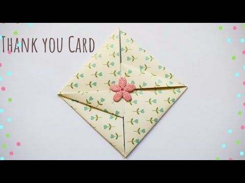 Easy Thank You Envelope Card Diy Gift Envelope Easy Thank You