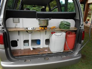 Campervan Conversion I Like How The Put A Shelf With Simple Sink In Back