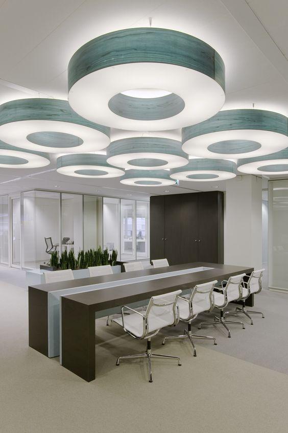 Holland office interior design office design pinterest for Conference room lighting ideas