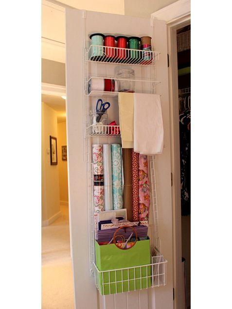 Out of sight space saver...basement storage closet