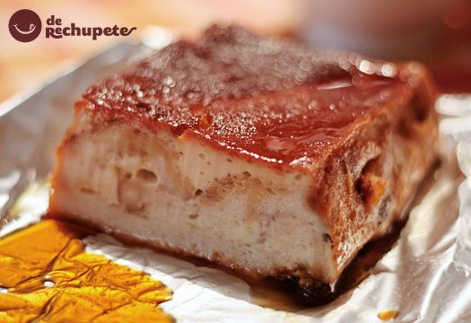 Receta de pudín de pan y nueces - Recetasderechupete.com