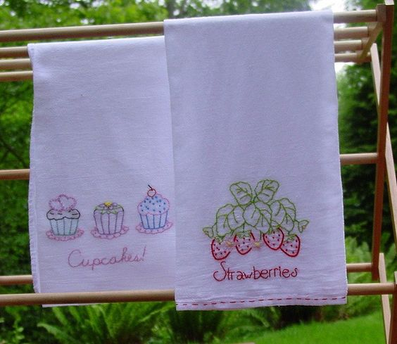 Tea Towels, Embroidery Designs And Embroidery On Pinterest